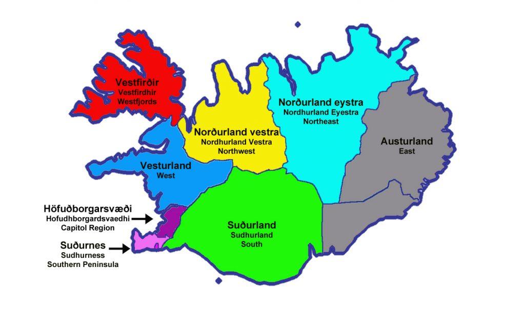 Map EUR ISL Iceland