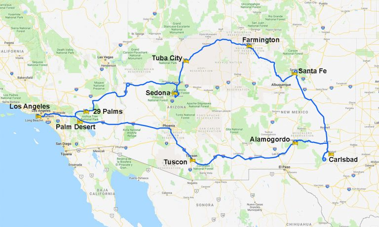 Map 2013-04 USA CA AZ NM