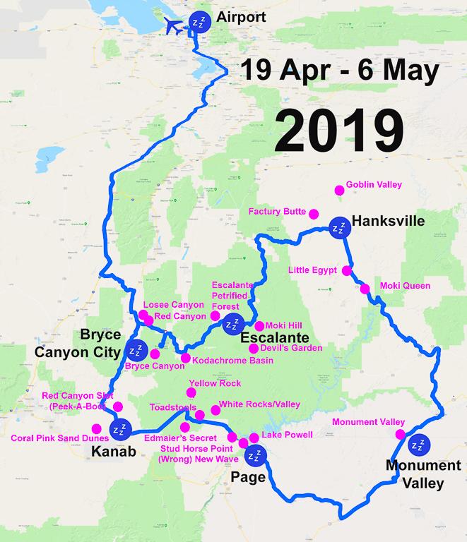 Map USA 2019-04 UT AZ